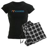I Love Seahorses Women's Dark Pajamas