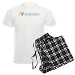 I Love Seahorses Men's Light Pajamas