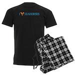 I Love Seahorses Men's Dark Pajamas
