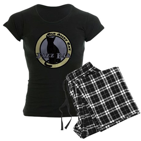Old Alley Cat Retro Women's Dark Pajamas