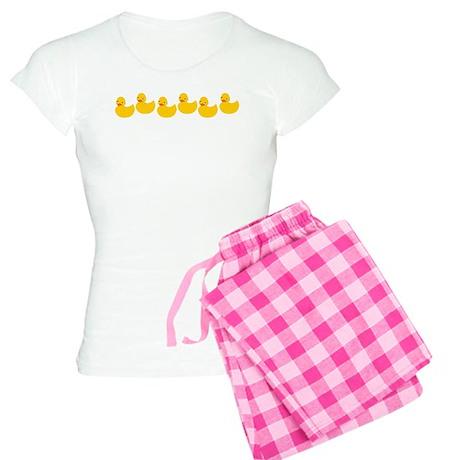 Duckies In A Row Women's Light Pajamas