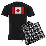 Canadian Flag Men's Dark Pajamas