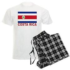 Costa Rica Flag Pajamas