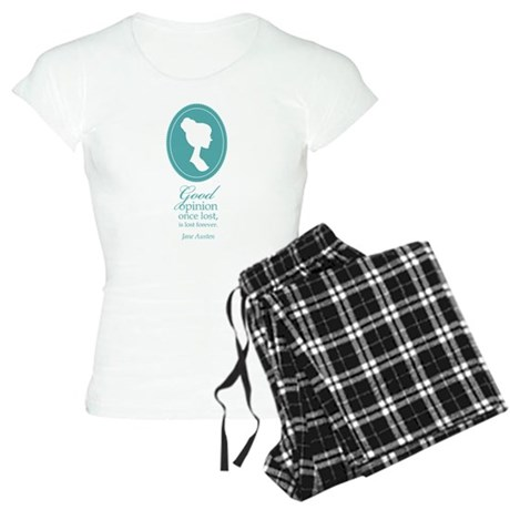 Austen Good Opinion Quote Women's Light Pajamas
