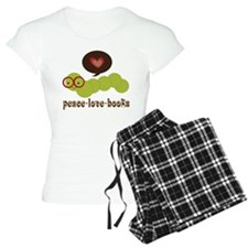 Peace Love Books Bookworm Pajamas