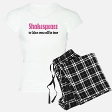 Pink Shakespeare Quote Pajamas