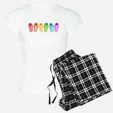 Rainbow Flip-Flops Pajamas