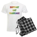 Support Gay Marriage Men's Light Pajamas