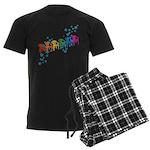 Rainbow Patio Chairs Men's Dark Pajamas