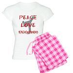 Peace Love Taekwondo Women's Light Pajamas