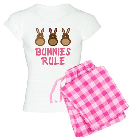 Easter Bunnies Rule Women's Light Pajamas