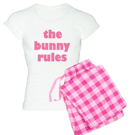Funny The Bunny Rules Easter Women's Pajamas
