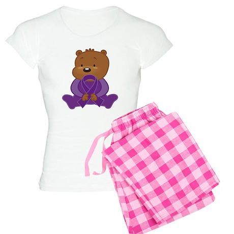 Teddy Bear Alzheimers Ribbon Women's Light Pajamas