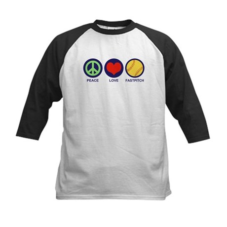 Peace Love Fastpitch Kids Baseball Jersey