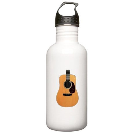 Acoustic Guitar Stainless Water Bottle 1.0L