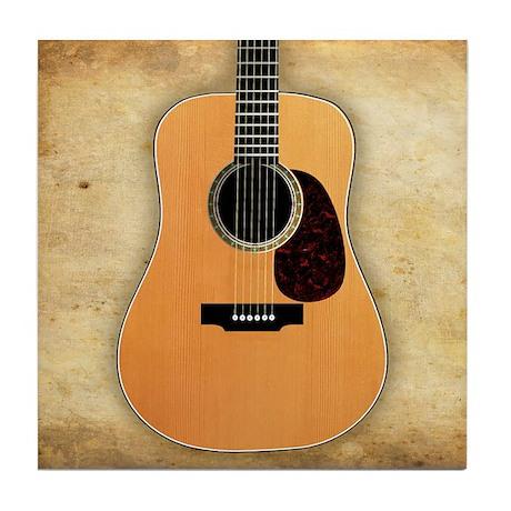 Acoustic Guitar Tile Coaster