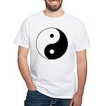 Yin Yang White T-Shirt