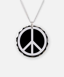 White Peace Sign Necklace