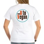 From A to Vegan Women's V-Neck T-Shirt