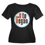 From A to Vegan Women's Plus Size Scoop Neck Dark