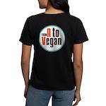 From A to Vegan Women's Dark T-Shirt