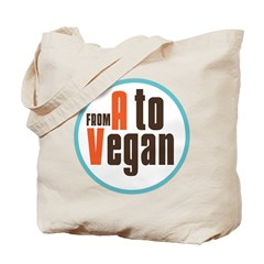 From A to Vegan Tote Bag