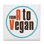 From A to Vegan Tile Coaster