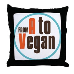 From A to Vegan Throw Pillow