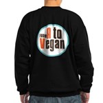 From A to Vegan Sweatshirt (dark)