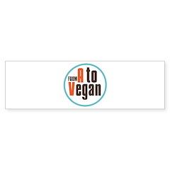 From A to Vegan Bumper Sticker