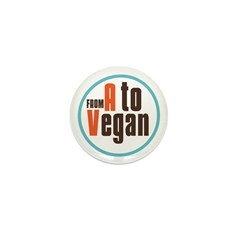 From A to Vegan Mini Button (10 pack)