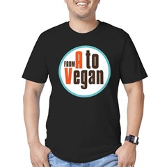 From A to Vegan Men's Fitted T-Shirt (dark)