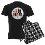 From A to Vegan Men's Dark Pajamas