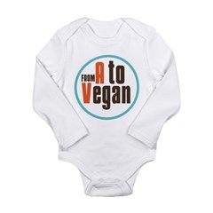 From A to Vegan Long Sleeve Infant Bodysuit