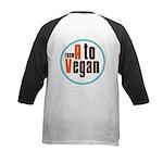 From A to Vegan Kids Baseball Jersey
