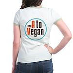 From A to Vegan Jr. Ringer T-Shirt