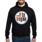 From A to Vegan Hoodie (dark)