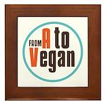 From A to Vegan Framed Tile