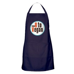 From A to Vegan Apron (dark)