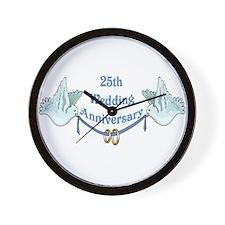 25th Wedding Anniversary Wall Clock