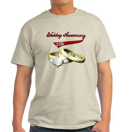 25th Wedding Anniversary Light T-Shirt