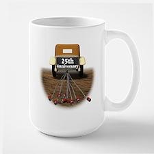 25th Wedding Anniversary Large Mug