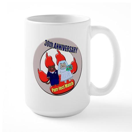 30th Wedding Anniversary Large Mug