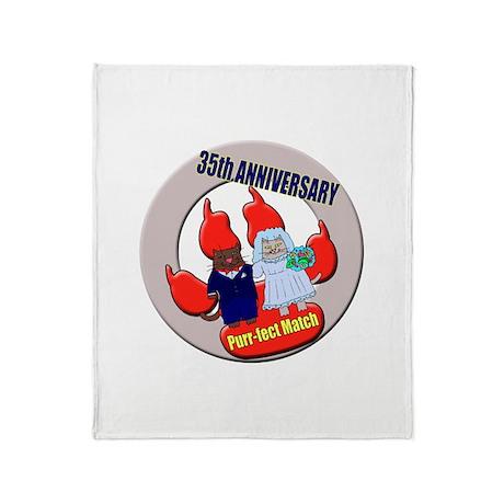 35th Wedding Anniversary Throw Blanket