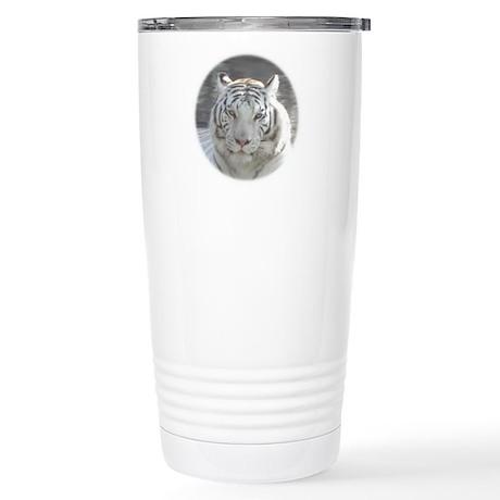 Royal White Tiger Stainless Steel Travel Mug