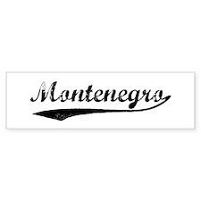 Vintage Montenegro Bumper Bumper Sticker