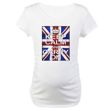 Keep Calm & Carry On Union Jack Maternity T-Shirt