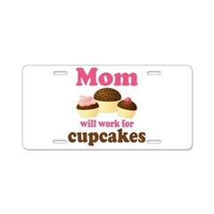 Mom Will Work For Cupcakes License Plate