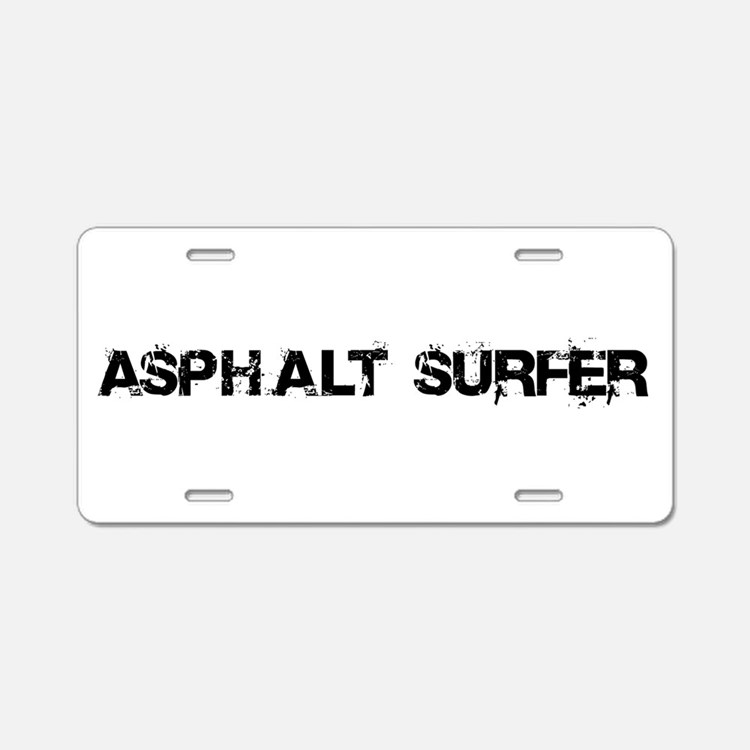Asphalt Surfer Aluminum License Plate