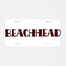 Beachhead Aluminum License Plate